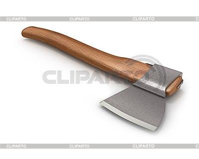 Axe z drewnianą rączką | Stockowa ilustracja wysokiej rozdzielczości |ID 3047913