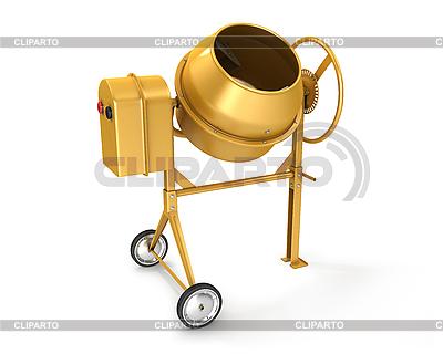 Gelber Betonmischer | Illustration mit hoher Auflösung |ID 3047988