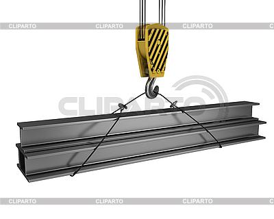 Kranhaken hebt einige Balken | Illustration mit hoher Auflösung |ID 3048024