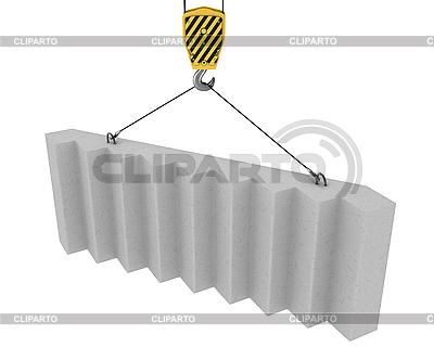 Kranhaken hebt Betontreppen | Illustration mit hoher Auflösung |ID 3048027