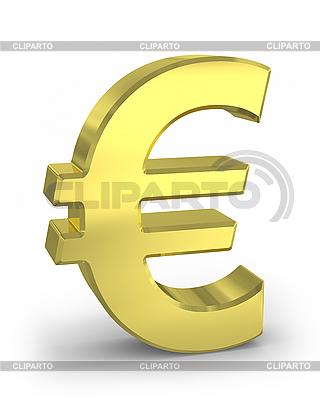 Goldenes Eurozeichen | Illustration mit hoher Auflösung |ID 3048049