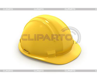 Gelbes Kunststoff-Helm oder Schutzhelm | Illustration mit hoher Auflösung |ID 3048115