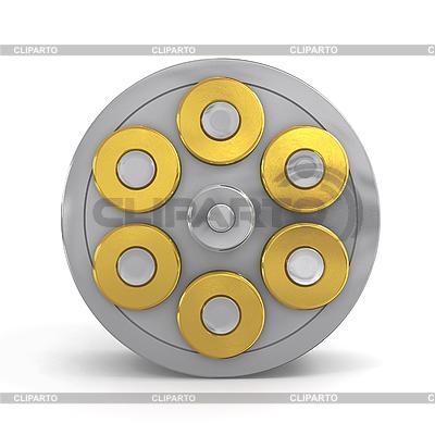 Revolver-Zylinder mit Kugeln | Illustration mit hoher Auflösung |ID 3048196