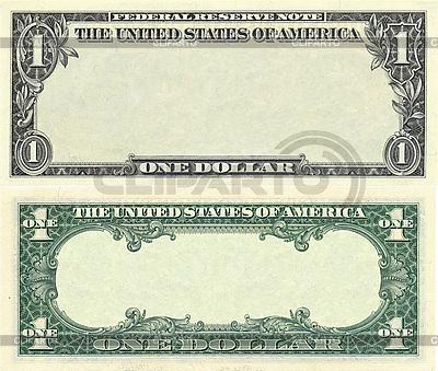Паттерн-рамка из однодолларовой банкноты | Фото большого размера |ID 3048914