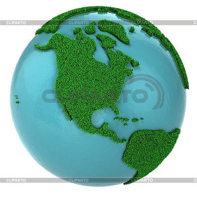 Grasglobus mit Nordamerika | Illustration mit hoher Auflösung |ID 3048919
