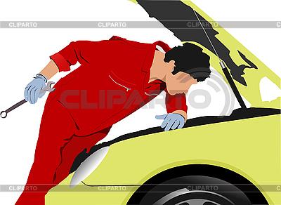 Mechanik samochodowy | Klipart wektorowy |ID 3047458