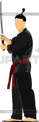 Samurai mit dem Schwert | Stock Vektorgrafik |ID 3047670