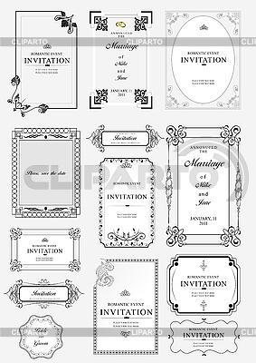 华丽的框架和饰品与示例文本 | 向量插图 |ID 3048351