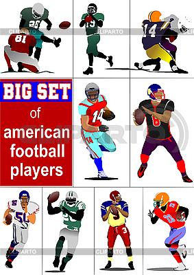 Set von amerikanischen Poster mit Fußballspielern | Stock Vektorgrafik |ID 3048407