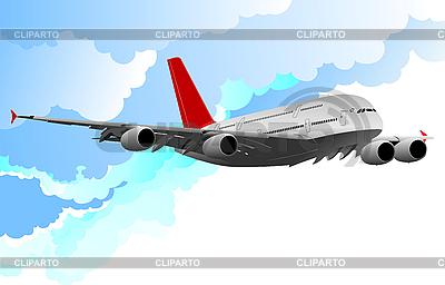 Flugzeug im Flug | Stock Vektorgrafik |ID 3048464