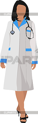 Kobieta z stetoskop | Klipart wektorowy |ID 3048638