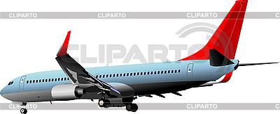Passagierflugzeug in der Luft | Stock Vektorgrafik |ID 3048651
