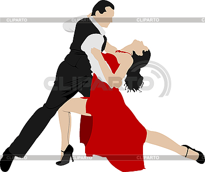 커플 댄스 탱고 | 벡터 클립 아트 |ID 3048689