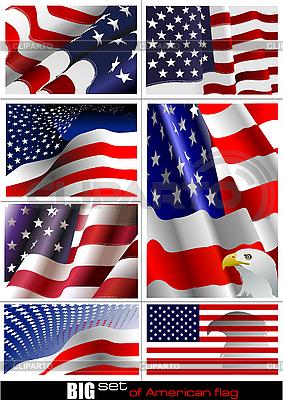 Набор флаги США | Векторный клипарт |ID 3048762