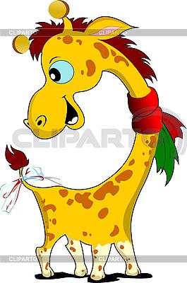 Mały Zabawna żyrafa | Klipart wektorowy |ID 3049989