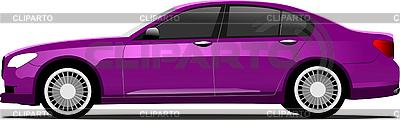 Fioletowy sedan samochód | Klipart wektorowy |ID 3050013