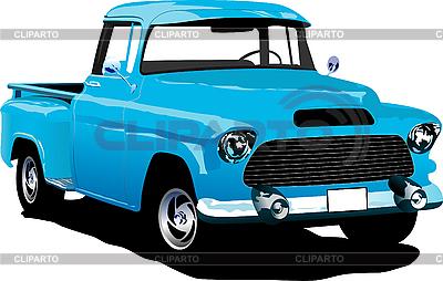 Altes blaues Pickup-Auto | Stock Vektorgrafik |ID 3070391