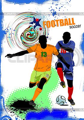 Plakat z piłkarzy | Stockowa ilustracja wysokiej rozdzielczości |ID 3079969