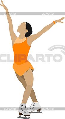 Women `s łyżwiarstwo figurowe | Klipart wektorowy |ID 3136143