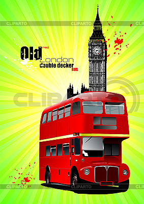 London - Poster mit Doppeldecker-Bus | Stock Vektorgrafik |ID 3175400