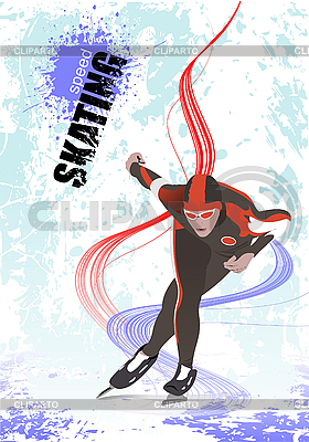 Poster Łyżwiarstwo szybkie | Klipart wektorowy |ID 3176563