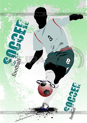 Poster mit Fußballspieler | Stock Vektorgrafik |ID 3181302