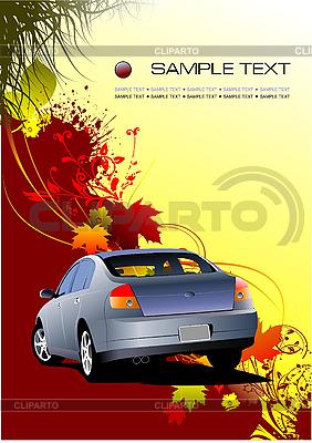 Jesienne tło z samochodu | Klipart wektorowy |ID 3183112