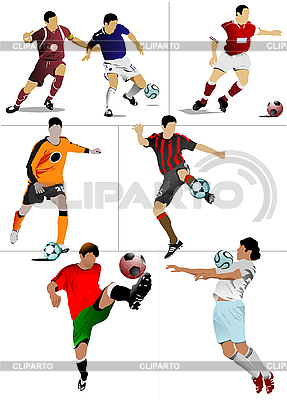 Футболисты | Иллюстрация большого размера |ID 3183125