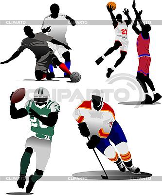 Cztery rodzaje gry sportowe zespołu | Klipart wektorowy |ID 3189547
