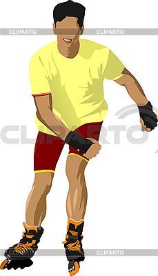 Вектор скейтбордист