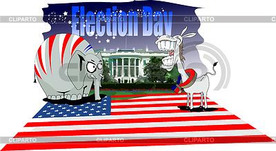 Dzień wyborów w USA | Klipart wektorowy |ID 3222848