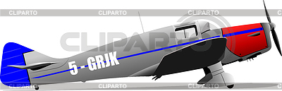 Altes militärisches Kampf-Flugzeug | Stock Vektorgrafik |ID 3267726