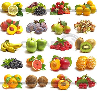 Set von leckeren Früchten | Foto mit hoher Auflösung |ID 3048235