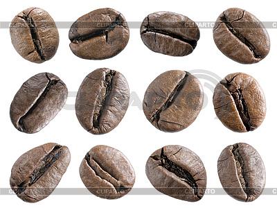 Ziarna kawy ustawić | Foto stockowe wysokiej rozdzielczości |ID 3048529