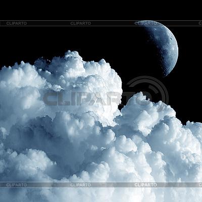 Mond und Wolken. | Foto mit hoher Auflösung |ID 3049369