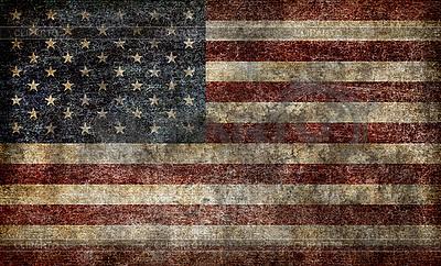 垃圾美国国旗 | 高分辨率照片 |ID 3049603