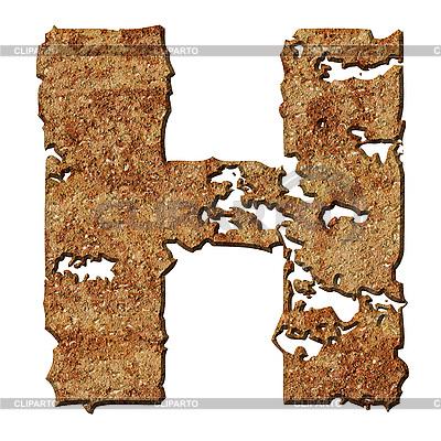 Rostiger Buchstabe H | Foto mit hoher Auflösung |ID 3049613