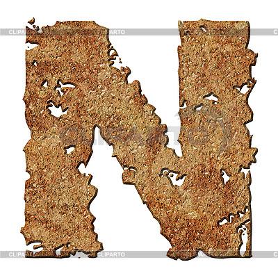 Rusted literę N | Foto stockowe wysokiej rozdzielczości |ID 3049620