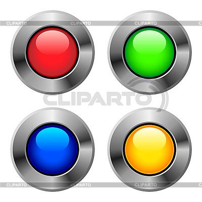 Metalowe okrągłe przyciski | Klipart wektorowy |ID 3051456