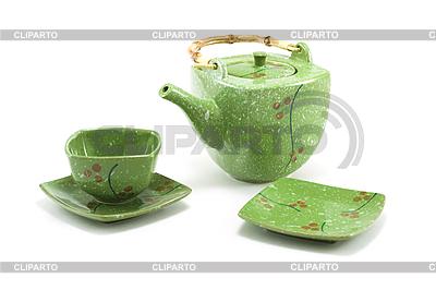 Chinesische Teekanne und Tasse | Foto mit hoher Auflösung |ID 3050603