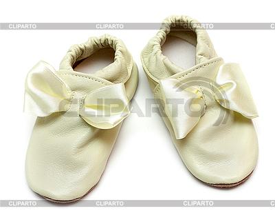 Para skórzane kapcie niemowlęce | Foto stockowe wysokiej rozdzielczości |ID 3050766
