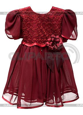 Elegantes rotes Kinderkleid | Foto mit hoher Auflösung |ID 3050772