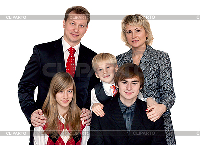 Wesołych wielki portret rodzinny | Foto stockowe wysokiej rozdzielczości |ID 3050795