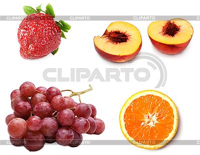 Traube, Pfirsich, Erdbeere und Orange  | Foto mit hoher Auflösung |ID 3060148