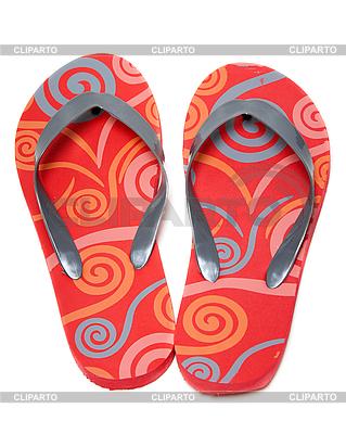Red beach obuwie | Foto stockowe wysokiej rozdzielczości |ID 3060151