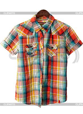 Koszulka dziecka w kratkę   Foto stockowe wysokiej rozdzielczości  ID 3060336