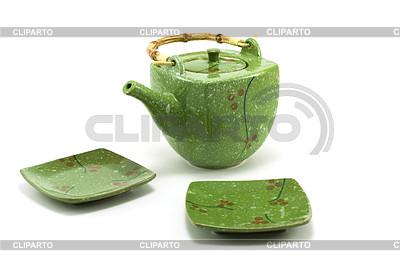Китайкие чайник и чашка с блюдцем | Фото большого размера |ID 3306338