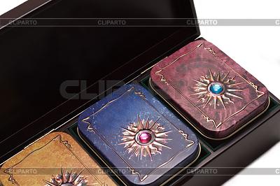 Pudełko z herbatą, żelazo czterech wariantów pakowania | Foto stockowe wysokiej rozdzielczości |ID 3306628