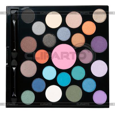 A set of makeup powder in round form | Foto stockowe wysokiej rozdzielczości |ID 3344612