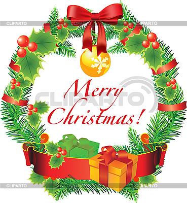 圣诞花环装饰 | 向量插图 |ID 3052070